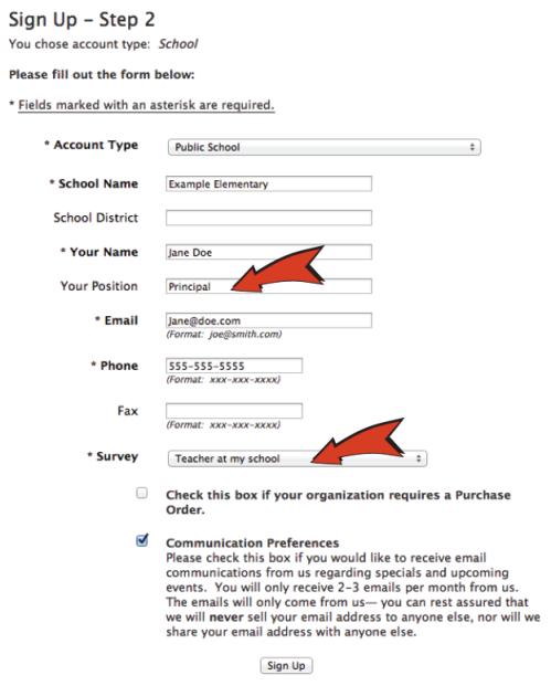 orderform example