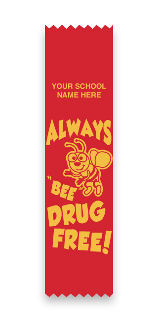 Always Be Drug Free Flat Ribbon